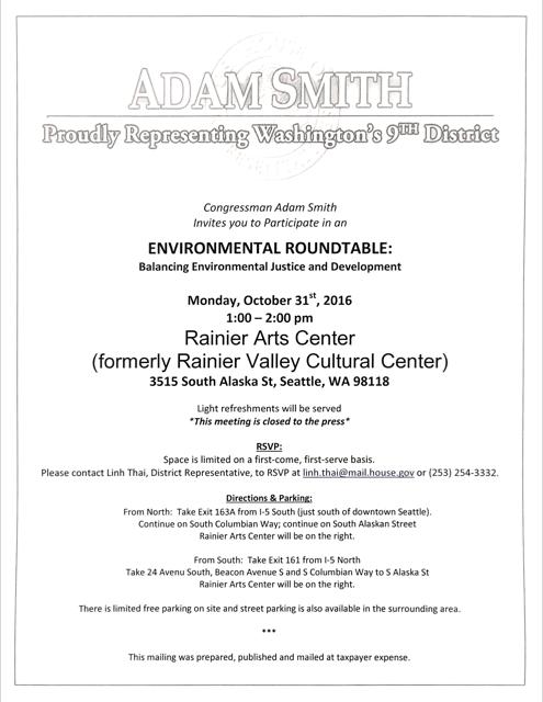 Environmental Roundtable @ Rainier Arts Center | Seattle | Washington | United States