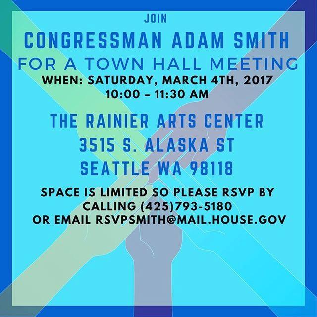 Congressman Smith to Host Town Hall in Seattle @ Rainier Arts Center | Seattle | Washington | United States