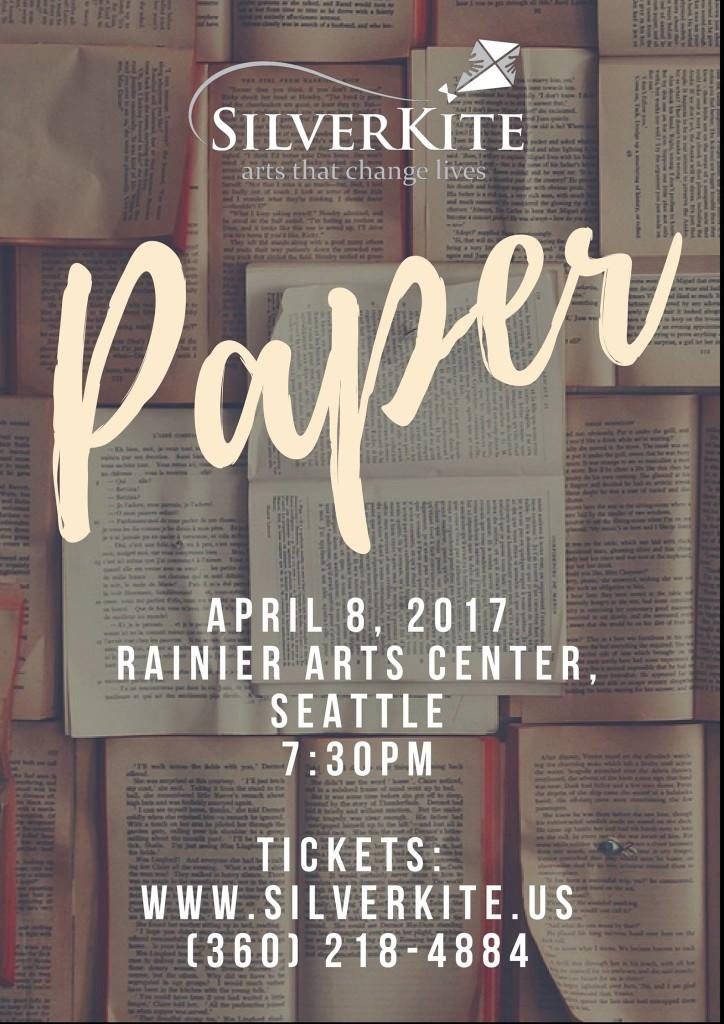 Silver Kite presents PAPER @ Rainier Arts Center | Seattle | Washington | United States